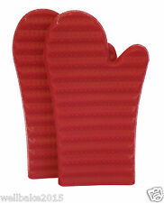 RibGrip™ Silicone Oven Glove Mitts Pair - Pink - Ribbed for Extra Grip