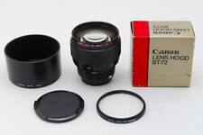 RARE MINT Canon 85mm F/1.2L  new FD mount BOXED with Canon Filter