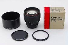 Rara menta Canon 85mm F/1.2L Nuevo en Caja Con Filtro Canon FD Monte