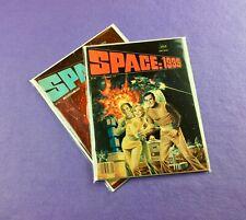 Space 1999 Magazine Lot (1976): 2-Bk- #1 and #2!  Gray Morrow Art!