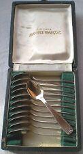 12 cuillères à moka en métal argenté François Frionnet