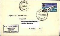 PAQUEBOT Cape Town 1968 Schiffspost Schiff DALESMAN Liverpool Shipletter Seamail