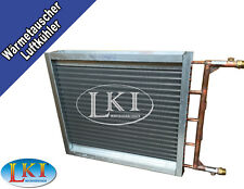 Cu-Alu Wärmetauscher * Lufterhitzer * Lufterwärmer • 600mm x 600mm -- SP01.041