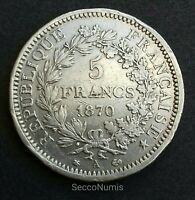 France. 5 Francs Hercule 1870 A Paris