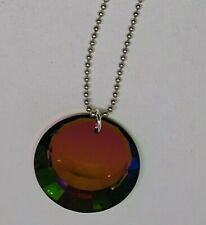 Swarovski Crystal Vitrail Medium 27mm Crescent Disc Suncatcher/ Ornament/ Prism
