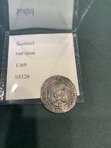 Scotland Half Groat David II F