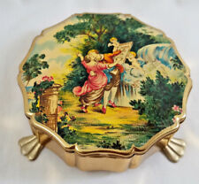 Vintage  Stratton Three-Footed Trinket Box Made in England