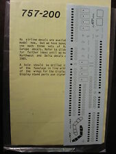 1/144 BOEING 757-200 WINDOWS DOORS ATP DECAL SET DECALCOMANIE
