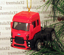 2013 FORD CARGO CAB-OVER RIG SEMI TRACTOR RED BLACK CHRISTMAS TREE ORNAMENT XMAS