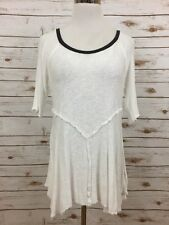 Free People Intimately White 3/4 Sleeve Tunic Top Sz S $40 *3626