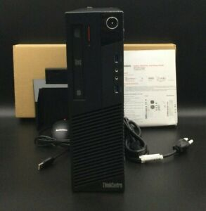 Lenovo ThinkCentre M83 SFF Pro Tower PC 3.4GHz i5-4670 4GB 500GB W7P DVD R/W