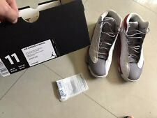 Air Jordan XIII 13 Retro Grey Toe, white/true red/cement grey, Men's Size 11