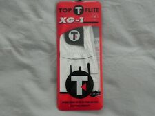 Brand New Men's Top-Flite Xg-1 Golf Glove - Medium / White