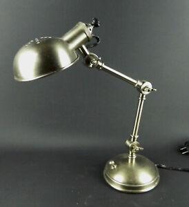Pottery Barn Industrial Brushed Nickel Adjustable Computer Task Desk Lamp
