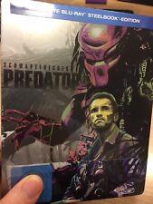 predator steelbook - exclusive rare oop + blu ray - arnold...