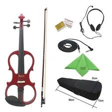 IRIN 4/4 Wood Maple Electric Violin Fiddle with Accessories Kit Case K6T9