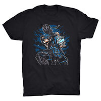 Subzero T Shirt Mortal Kombat Raiden Scorpion Video Game Over Fighter Fatality