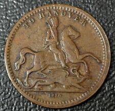 1830 'TO HANOVER' Game Token - Victoria Regina - Copper - 23mm Diameter - Nice