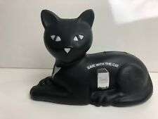 Vintage Plastic Black Cat Bank 1981 Union Carbide Save With The Cat Advertising