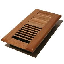 """Solid oak wood floor register/vent for 4""""x10"""" duct, gloss finish, natural color"""