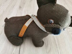Mini Teacup Chihuahua Welpengeschirr extra leicht und soft in braun XXS
