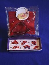 RED HAT SOCIETY ~  METAL COOKIE CUTTER and TRINKET DISH