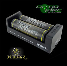 XTAR® MC2 Universal USB battery charger 18650 14500 + Opticfire batteries