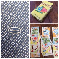 1960's Whitman Mini hearts Children's Card Game Vtg 44 cards # 1-11 Racine Wis