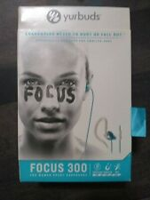 Yurbuds Focus 300 Behind-the-Ear Sport Headsets Headphones w/Mic Aqua (Blue)