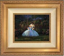 Thomas Kinkade Disney Cinderella Dreams Come True 9 x 12 LE SN Canvas Gold Frame
