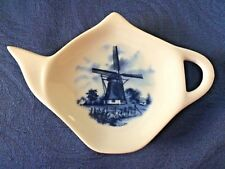 Windmill 2 New Handmade Ceramic-Porcelain Tea Bag Spoon Rest Gift Collectable