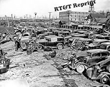 Photograph  WWII 1941 Detroit Michigan Junk Yard / Scrapyard  8x10