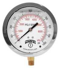 Winters PFQ724LF Gauge Pressure 4in. 0 to 1000 PSI