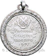 1907 CODROIPO Convegno ciclistico Ciclismo RARA Medaglia Udine