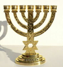 10cm Jerusalem Temple MENORAH Star of David Jewish Lamp, Israel Holy Bible Land