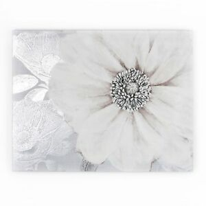 Art for the Home Grey Bloom Printed Canvas