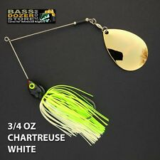 Bassdozer spinnerbaits THROBBER 3/4 oz CHARTREUSE WHITE spinnerbait spinner bait