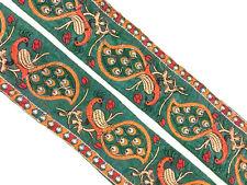 Vintage Trim Indian Ribbon Saree Border Embroidered Trim Sari Trim By 1Yd ST1170