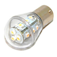 HQRP Waterproof BA15s LED Bulb for AD2062R John Deere Tractor Warning Flasher