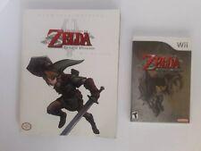 The Legend of Zelda: Twilight Princess (Nintendo Wii, 2006) complete plus guide