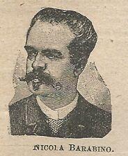 A1040 Nicola Barabino - Stampa Antica del 1911 - Xilografia