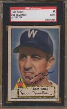 1952 WASHINGTON SENATORS signed SAM MELE #94 - topps