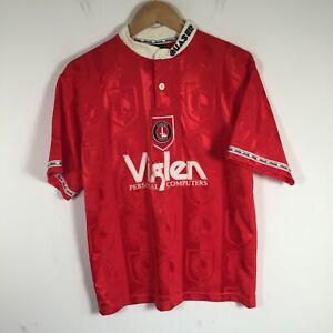 VINTAGE 96/98 Charlton Athletic FC Football Jersey Mens size M home kit Quaser