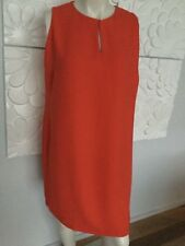 SZ 14W Aus 20 /  22 TANGERINE ORANGE SHIFT DRESS RALPH LAUREN DESIGNER LINED