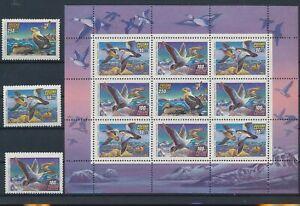 LN31233 Russia 1993 animals fauna flora birds fine lot MNH