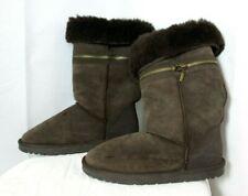 Fabulous warm REAL SHEEPSKIN, ZIPPYBOOT, brown size 6, cosy UG Style, used once