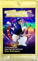 Alex Rodriguez 2003 Topps Chrome Record Breakers Refractor #RBCA-AR  One Touch