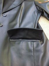 PRADA LAMB LEATHER JACKET BLACK MADE IN ITALY SIZE 44 excellent condition