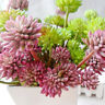 Heads Artificial Succulent Flower Floral Stem Fake Plant Foliage Garden Decor
