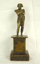 Napoléon I er Bonaparte Empereur sur socle époque XIX e sculpture en bronze 11cm